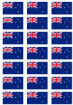 New Zealand Flag Stickers - 21 per sheet